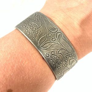 MAY LILY OF THE VALLEY BIRTHDAY CUFF BRACELET
